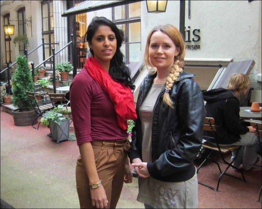 MINOTENK: Kronikkforfatter Linda Alzaghari (til høyre) er daglig leder i Minotenk. Her sammen med Navjout Sandhu, som er styreleder. Foto: Samaria Iqbal