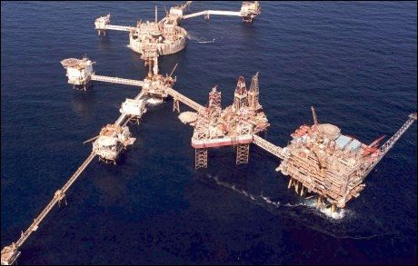 EKOFISK: Oljeselskapet Phillips fant høsten 1969 store mengder olje på Ekofisk-feltet. Det var starten på oljeeventyret. Arkivfoto: NTB/SCANPIX