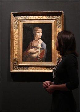 GENISTREKER: «Damen med hermelinen» er et av maleriene på utstillingen «Leonardo da Vinci: Painter at the Court of Milan». Foto: PA PHOTOS