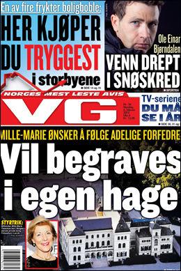 LES HELE SAKEN: I dagens papirutgave av VG får du hele utgaven av saken. Foto: Skjermdump
