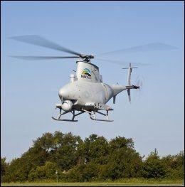 ROBOT-HELIKOPTER: Helikopteret MQ-8B Fire Scout er fjernstyrt. Foto: AFP