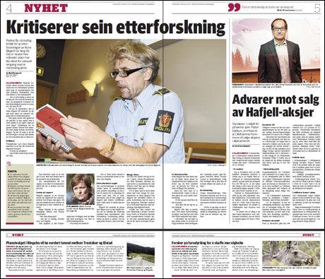 SAKEN: Det er i dagens Gudbrandsdølen Dagningen at opplysningene blir presentert. Foto: FAKSIMILE