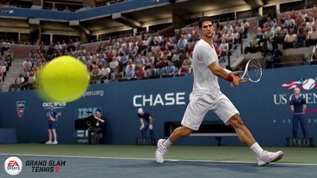 FOTOREALISTISK: Alle stjernene er lett gjenkjennbare, både når det kommer til spillestil og utseende. Her er tennisstjernen Novak Djokovic i kjent positur. Foto: EA CANADA/EA SPORTS