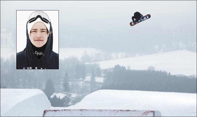 BEST AV ALLE: Emil Ulsletten vant slopestyle-konkurransen i Italia i dag. Foto: snowboardforbundet.no