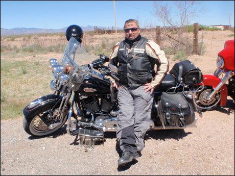 GUIDE: John Bisgaard jobbet som guide for Route 66 USA i flere år. Foto: Privat