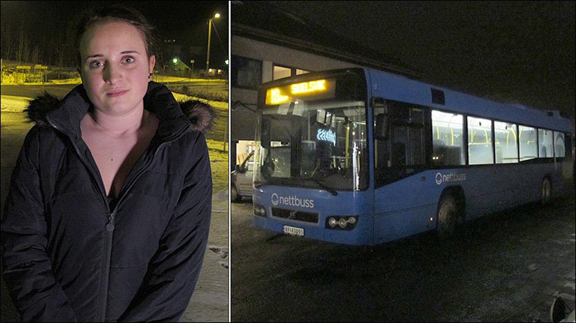 SKREMT: Sandra Svendsen (15) satt på bussen som ble kapret i Skien. - Det var en skremmede opplevelse, sier 15-åringen. Foto: Ole Olsen / VG