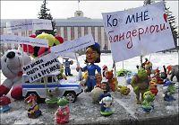 Nektes lekeprotest før valget i Russland