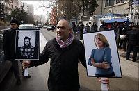 Likene av to utenlandske journalister funnet i Homs
