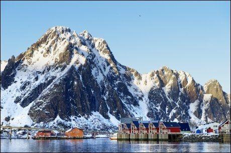 SVOLVÆR: Som fisketurist i Lofoten bor du i rorbu. Velustyrte og moderne sådanne. Foto: GØRAN BOHLIN