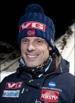 MUSIKALSL: Hopptrener Alexander Stöckl får de beste skussmål fra Bjarne Brøndbo. Foto: Geir Olsen, VG