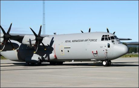 SAVNET: Dette er Hercules-flyet «Siv» som er savnet i Nord-Sverige. Foto: Jan Severinsen