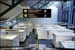 OPPBEVARING: Oslo S har 800 oppbevaringsbokser til bagasje. Dessverre forekommer det at tyver slår til her. Foto: GØRAN BOHLIN.