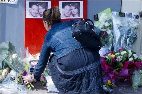 TO DREPT: To soldater ble drept i Montauban i Sør-Frankrike i forrige uke. Foto: AFP