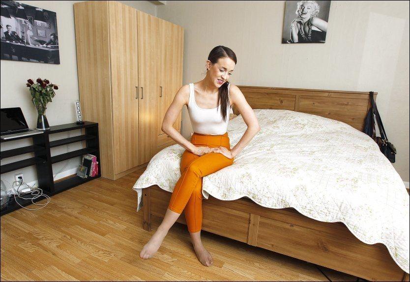 MARILYN-FAN: Monika Blomeid har flere bilder av Marilyn Monroe hjemme på hybelen. Foto: VG