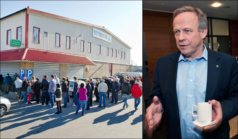 HARRY-LARS: Landsbruksministeren dumpet de norske matvarene og dro til Sverige på harrytur på skjærtorsdag. Foto: Ole Martin Grav og Espen Braata