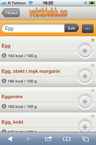 d7c04cd6e Logg inn på Vektklubb.no på mobil - Vektklubb