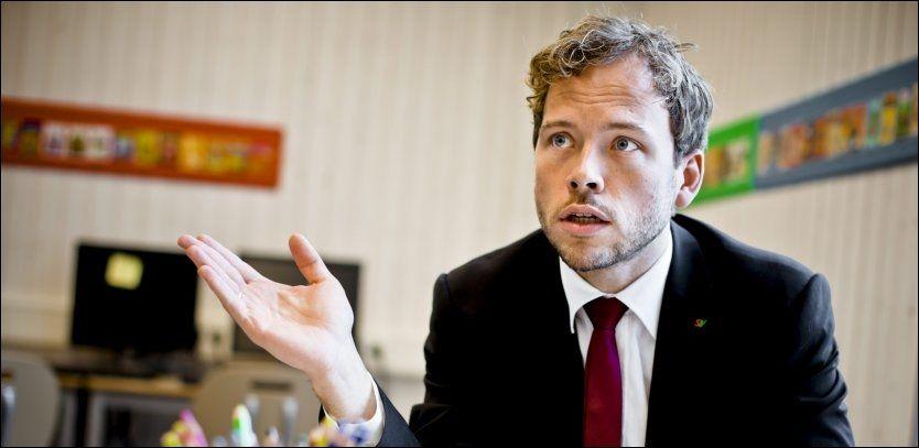 POSITIV: Audun Lysbakken og SVs sentralstyre sier ja til tidlig ultralyd. Foto: Krister Sørbø