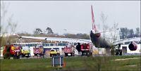 Flere skadet under nødlanding på Gatwick