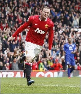 SCORET TO: Wayne Rooney scoret to ganger mot gamle lagkamerater. Foto: Ap