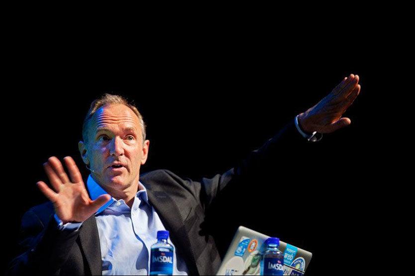 I NORGE: Tim Berners-Lee holdt torsdag foredrag på Gulltaggen. Foto: Jørgen Braastad