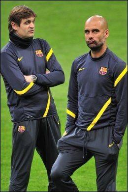 OVERTAR: Tito Vilanova overtar etter Pep Guardiola. Foto: Afp