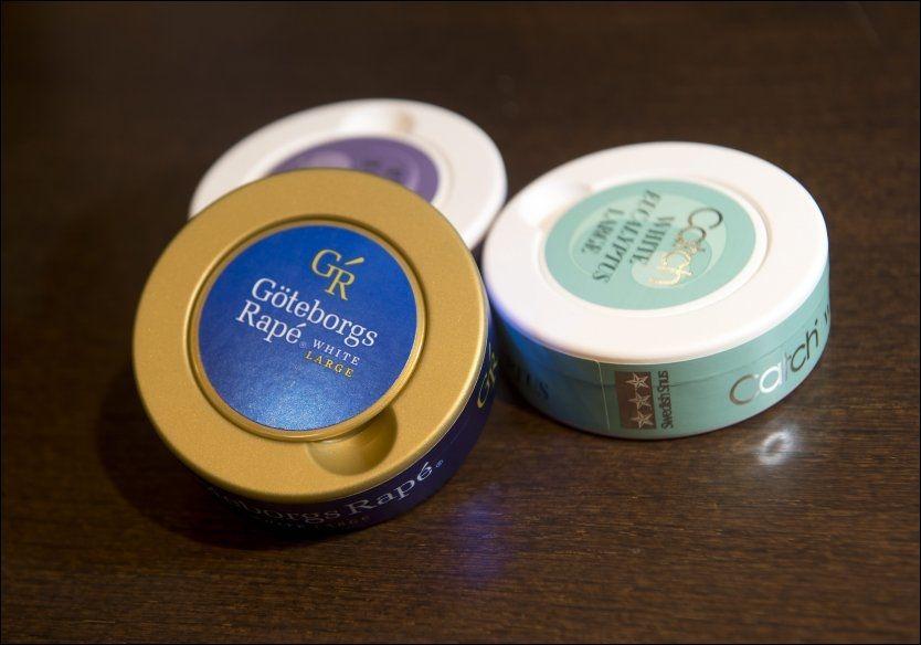 IKKE LOV: Snus som dette - med smak - foreslås forbudt. Foto: ESPEN BRAATA