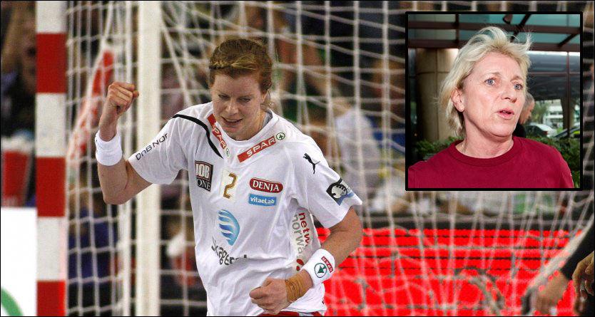 IMPONERT: Tonje Larsen var med på å vinne sluttspillgull med Larvik lørdag. Det er hennes 40. tittel med Larvik. Gløden imponerer tidligere Larvik- og landslagssjef Marit Breivik. Foto: Gorm Kallestad (Scanpix) og Alf Øystein Støtvig (VG)
