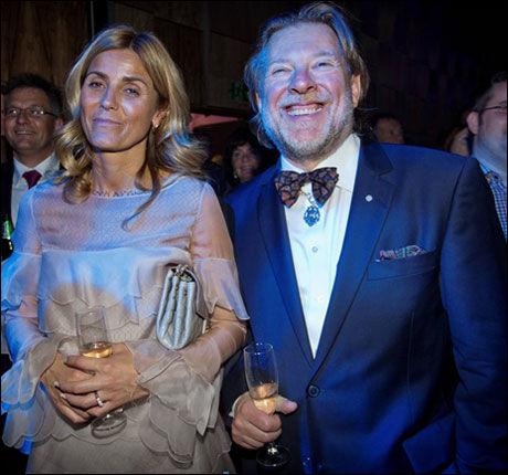 BARE VENNER: Odd Reitan (60) kom med Hilde Undlien (42), men de er ikke kjærester. Foto: ØYVIND NORDAHL NÆSS