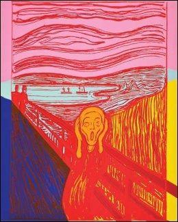WARHOLS SKRIK-SERIE: I 1984 lagde popkunstneren Andy Warhol en serigrafi av «Skrik». Dette er nr. 8.Foto: HAUGAR VESTFOLD KUNSTMUSEUM