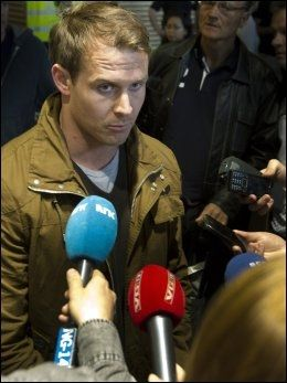 MISTET TRENINGSKAMERATEN: Aleksander Hetland forteller om to utrolig tøffe døgn etter Oens bortgang. Foto: NTB Scanpix