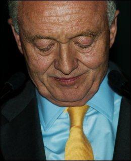 TAPTE: Ken Livingstone etter at det ble klart at han ikke vant ordførervervet. Foto: Leon Neal, Afp, NTB Scanpix