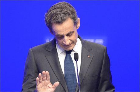 NEDERLAG: Den sittende presidenten Nicolas Sarkozy fra høyrepartiet UMP taper mot sosialisten François Hollande, viser målingene. Foto: Ap