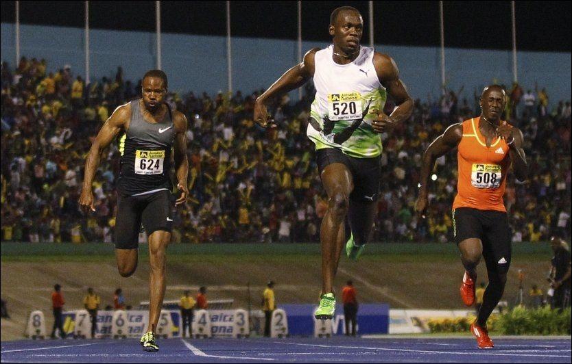 VANT: Usain Bolt leverte en sterk årsdebut på 100 meter i Kingston lørdag. Foto: Tomas Bravo, Reuters