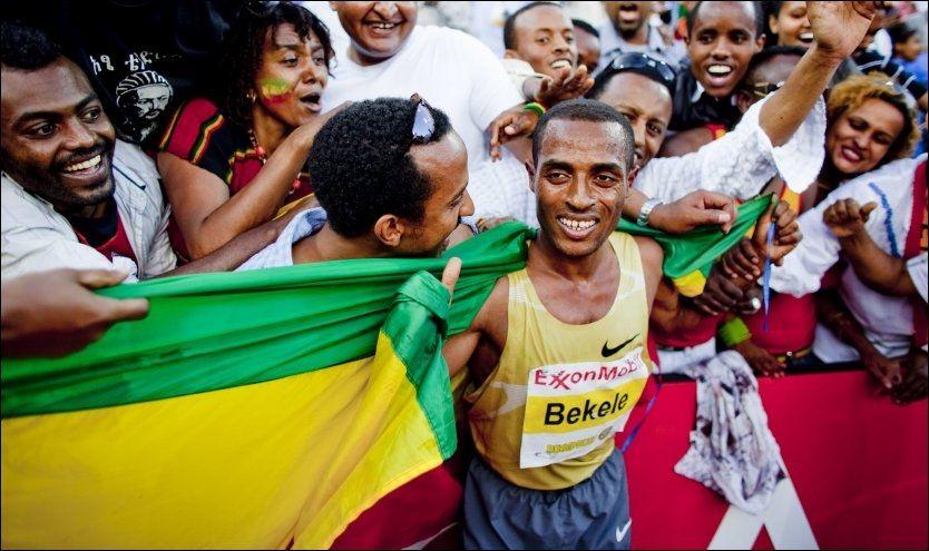 TIL OSLO: Verdensrekordholder på 5000- og 10.000 meter, Kenenisa Bekele, kommer til Bislett Games i sommer. Her er han fra samme arrangement i 2009. Foto: MARKUS AARSTAD / VG