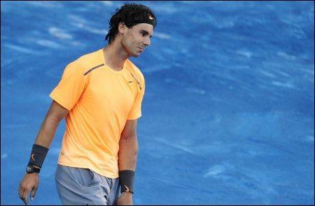 TAPTE: Før dagens kamp hadde Nadal og Verdasco møttes 13 ganger - hvor Nadal seiret i alle oppgjørene. I dag var det stopp. Foto: Afp