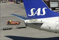 Full SAS-pilot stanset på Arlanda