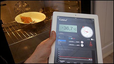 Elma iGrill fungerer både på iPad og iPhone. (Foto: Kurt Lekanger)