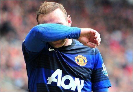 HJALP IKKE: Wayne Rooney ble matchvinner for Manchester United, men det hjalp lite når Manchester City snudde kampen mot QPR på overtid. Foto: Pa Photos