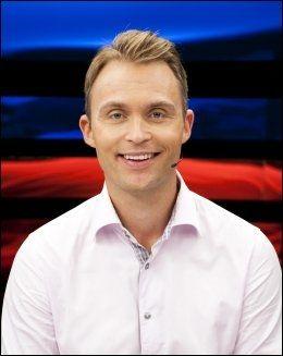 SPURS-SUPPORTER: Jon Hartvig Børrestad. Foto: TV 2