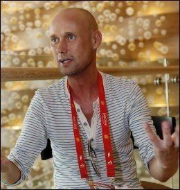 HER ER HAN: Hans Espen Gihle på hotellet i Baku. Foto: Mattis Sandblad / VG