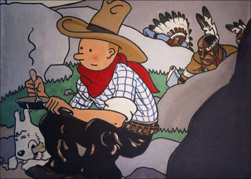 SLO REKORD: Det er denne tegneserieforsiden som har sørget for ny salgsrekord for Tintin. Foto: AFP