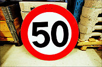 Vil skrote 50-skiltet