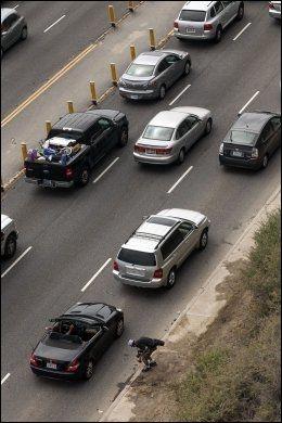 SKJEDDE HER: Ulykken skjedde her, på legendariske Pacific Coast Highway. Foto: Ap