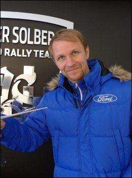 STOLT PAPPA: Petter Solberg. Foto: Ole Kristian Strøm