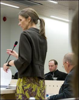 I VITNEBOKSEN: Rettspsykiater Synne Sørheim. Foto: Heiko Junge / NTB