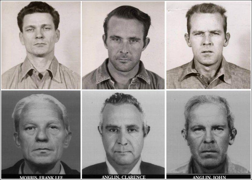 IKKE TATT: Frank Lee Morris (f.v.), Clarence Anglin og John Anglin rømte fra beryktede fengselet Alcatraz. Siden er ingen av dem funnet døde eller levende. Foto: Reuters