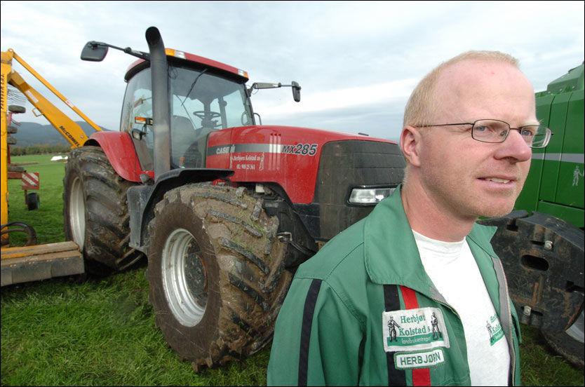 BONDE: Herbjørn Kolstad er daglig leder i det foretaket som får mest jordbruksstøtte. Foto: Bjørn Tore Ness, NA