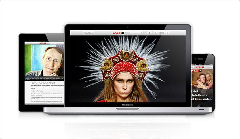 OGSÅ PÅ WEB: VG kan nå leses på både mobiltelefon, nettbrett og pluss.vg.no. I tillegg vil du også få gratis smaksprøver på innhold i hver eneste utgave. Foto: Foto: