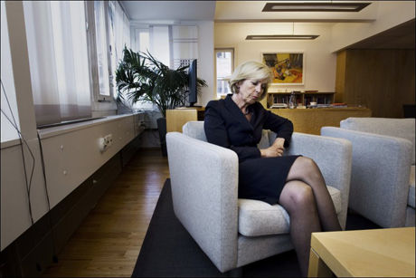 BEKYMRET: Helseminister Anne-Grethe Strøm-Erichsen mener at norsk rusmiddelpolitikk virker, men hun er bekymret for de høye tallene på overdosedødsfall. Foto: Frode Hansen/VG