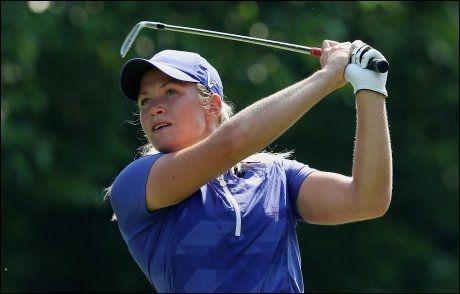 FALT PÅ LISTEN: Suzann Pettersen ligger på 15. plass i Canada. Foto: AFP